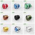 metal SPST momentary colorized red anodized push button switch