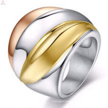 New arrival popula stainless steel mens colorful punk rings