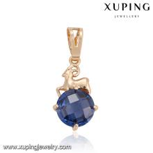 32880 Xuping jóias da moda China pingente de ouro nobre pavimentar única pedra CZ Sintética