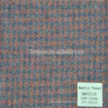 Men winter coats 100% wool coat style Harris tweed men cloth