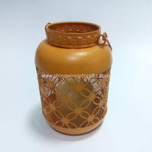 Round Orange Candler Holder
