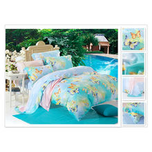 40*40s 133*72 reactive printing Purebest 100% tencel printing bedding set