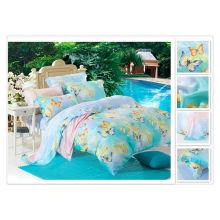 40 * 40s 133 * 72 impressão reativa Purebest 100% tencel impressão conjunto de cama
