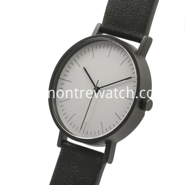 Clean Design watch with white dial