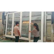 Puertas de vidrio templado con doble acristalamiento de aluminio con ruptura de puente térmico Puerta de patio blanca con persianas integrales