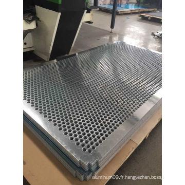 Feuille ronde en aluminium perforé pour rideau mur
