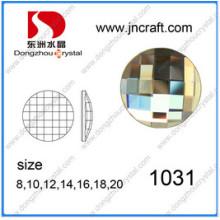 Roud und Square Flat Back Glasspiegel Perlen Steine