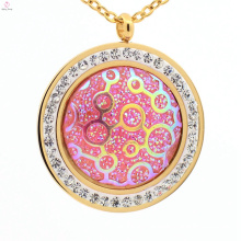 Round hot high quality 316l pendant, cute stainless steel charm wholesale pendant