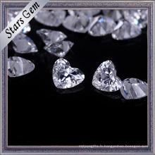 Execellent Brilliant Cut forme coeur en forme de zircon pour les bijoux