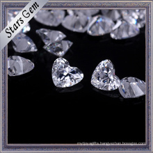 Execellent Brilliant Cut Heart Shape Cubic Zirconia for Jewelry