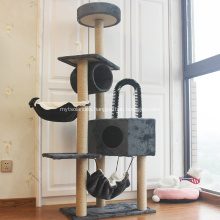 Condo Catcus Climbing Scratching Cat House Tree Tower