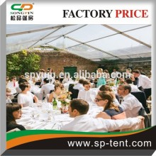 Stylish aluminum frame transparent sidewall party tents for outdoor activities