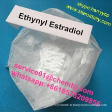 Le stéroïde femelle cru d'oestrogène de grande pureté saupoudre Ethynyl Estradiol 57-63-6