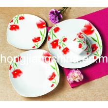 Ensemble de dîner décoration florale 20PCS