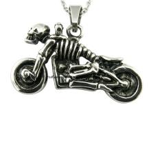 Collar de la manera del colgante del cráneo de la motocicleta
