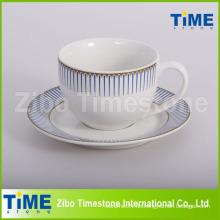 Kundenspezifische bedruckte Großhandel Tassen und Untertassen