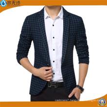 New Arrival Blazer Men Cotton Suit Jacket Slim Fit Blazers
