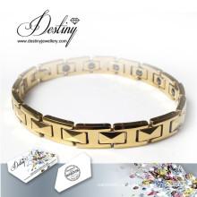 Destino los cristales de la joyería de pulsera Swarovski oro