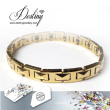 Destino joias cristais de Swarovski ouro pulseira