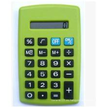 Mini calculadora verde, calculadora de bolsillo preciosa para la promoción, oficina