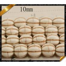 Perles rondes de citrouille, Perles Howlite, Bijoux à perles chaudes (GB0114)