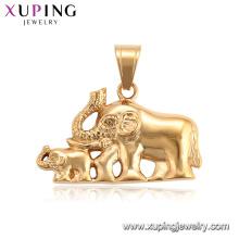 34203 XUPING banhado a ouro neutro elefante animal charme pingente