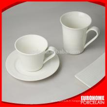 nouveaux produits de Chine pour hôtel de vente utilisent ensembles tasse en porcelaine blanche