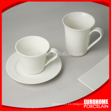 new china products for sale hotel use white porcelain mug sets