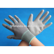 13 gauge PU coated safety working nylon glove PU coated work gloves