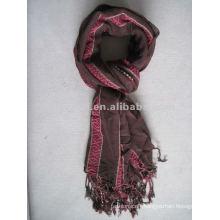 Factory yarn dyed polyester 1 dollar scarf