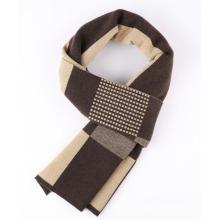 Écharpe de mode tissée acrylique de polyester de laine d'hiver de polyester des hommes (YKY4606)