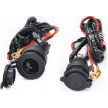 12V 1.5m Wire Waterproof Power Socket Car Boat Motorcycle Cigarette Lighter Plug