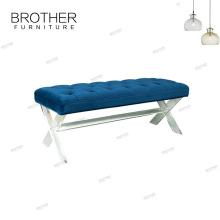 Tabouret de repos de pied acrylique de banc de meubles de Homer avec le coussin
