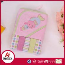 Fabriquez le tissu de lavage de bébé, paquets de tissu de lavage en gros, serviette à capuchon de bébé