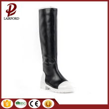 black white Hit color design women's boots