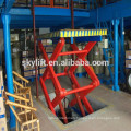 High quality !! electric hydraulic scissor goods lift for warehouse with low price