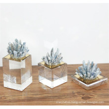 Natural Druzy Glass Craft Nordic Style Abstract Design for Decorative Gift Sets