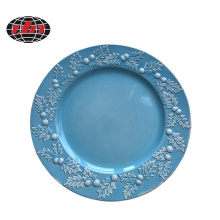 Holly Ceramic Effect Plastic Charger Plate