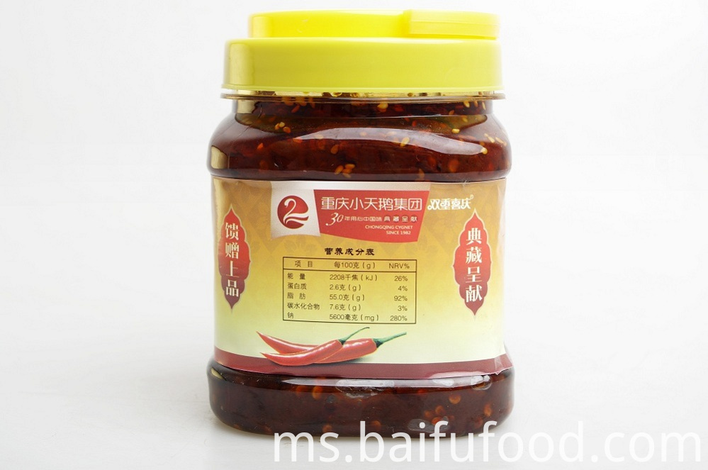 Fresh pepper Red oil bean paste