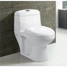 Cuarto de baño cerámica S-Trap trampa lavado una pieza inodoro en Color blanco
