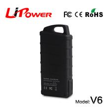Мини-размер 14000mAh 12v rc автомобильный аккумулятор мощность банка 3 в 1 электростанция с клипами