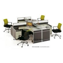 Cubículo moderno de la estación de trabajo de los muebles de oficina 4 en venta