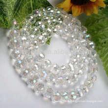 Perles en verre rond et nettes en gros, perles sphériques blanches, perles transparentes en gros