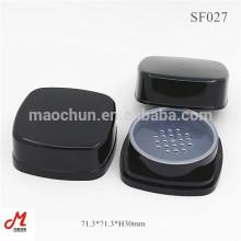 SF027 Black square sifter loose powder cosmetic jar
