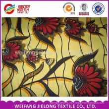 Diseño de patrón de la hoja phoenix hitarget tela de cera real