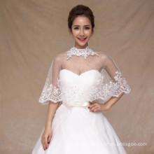 2017 горячие продажи свадебные красивые свадебные белый кружево аппликации белый кружево шаль