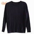 Hombres 100% Arcylic Pullover All Black Sweater