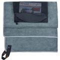 twill manufacter zipper pocket microfiber sport gym towels