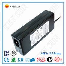 Switching Power Supply 24V 3.75A AC DC Adapter 100-240V