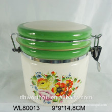ceramic airtight container with full decal